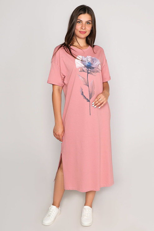 """Платье """"Naturel"""", пудровый"""